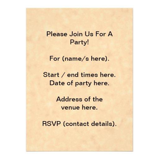 Your Letter. Custom Monogram. Black & Parchment Custom Invitation