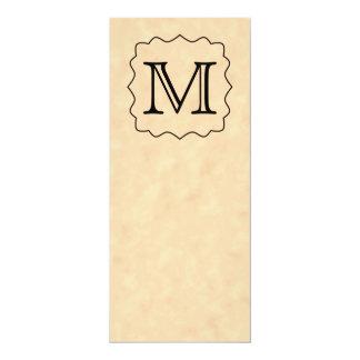 Your Letter. Custom Monogram. Black & Parchment Personalized Invites