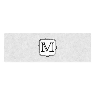 Your Letter Custom Monogram Gray Black White Business Cards