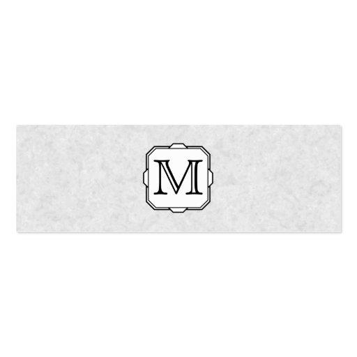 Your Letter. Custom Monogram. Gray, Black & White Business Cards