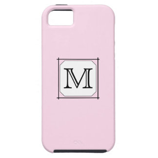 Your Letter. Custom Monogram. Pink Black White. iPhone 5 Cases