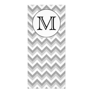 Your Letter. Gray Zigzag Pattern Monogram. Customized Rack Card