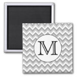 Your Letter. Grey Zigzag Pattern Monogram.