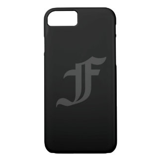Your Letter Masculine Gray and Black Design iPhone 8/7 Case
