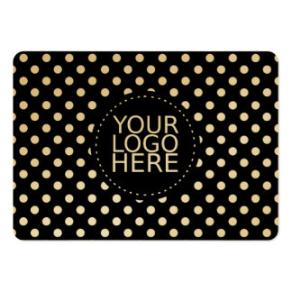 Your Logo Here and Dots Gold Pack Of Chubby Business Cards