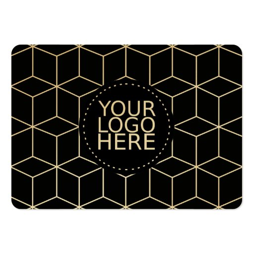 Your Logo Here and Modern Pattern Business Card Template