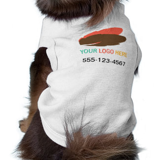 Your logo here pet business promotional marketing sleeveless dog shirt