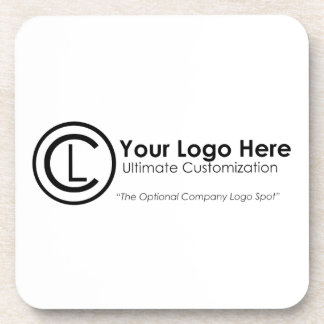Your Logo Here Simple & Custom Promo Cork Coasters
