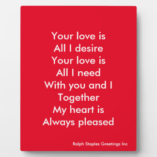 Your love photo plaques