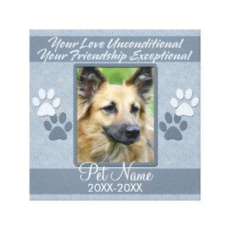 Your Love Unconditional Pet Sympathy Custom Canvas Print