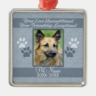 Your Love Unconditional Pet Sympathy Custom Metal Ornament
