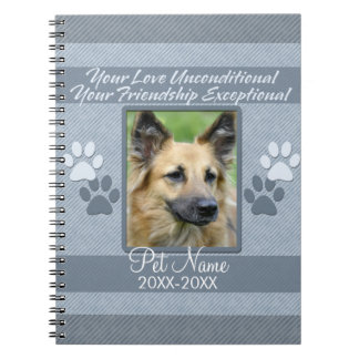 Your Love Unconditional Pet Sympathy Custom Note Book
