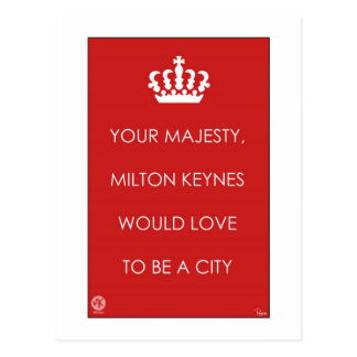 Your Majesty, MK would love to... postcard