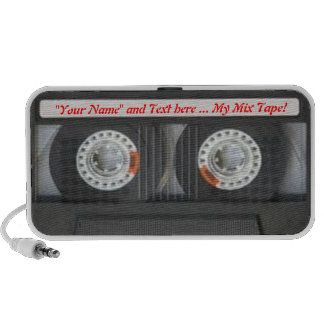 Your Mix Tape (Add your own text) Laptop Speakers