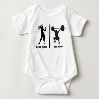 Your Mom My Mom Funny Fitness Baby Bodysuit