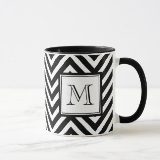 YOUR MONOGRAM, BLACK CHEVRON