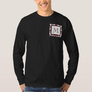 Your Monogram, Brown Damask Pattern 2 T-Shirt