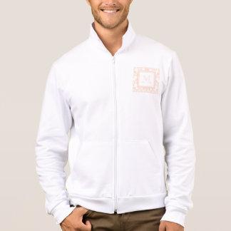Your Monogram, Flesh Pink Damask Pattern 2 Jacket