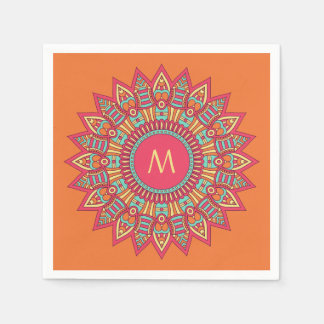 Your Monogram in a Boho Frame paper napkins
