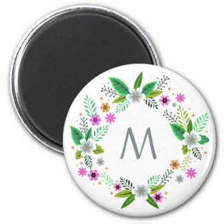Your Monogram in a Flower Frame magnet