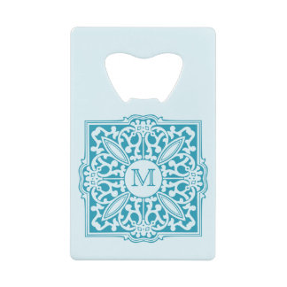 YOUR MONOGRAM in decorative frame bottle opener