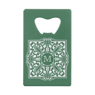 YOUR MONOGRAM in decorative frame bottle opener