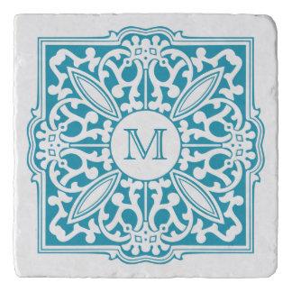 YOUR MONOGRAM in decorative frame custom trivets