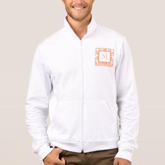 Your Monogram, Orange Damask Pattern 2    Product Jacket