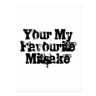 Your My Favourite Mitsake Postcard
