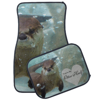 Your my Otter Half Brown River Otter Swimming Car Mat