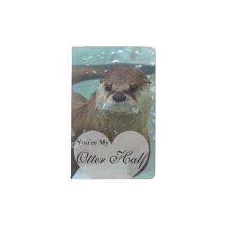 Your my Otter Half Brown River Otter Swimming Pocket Moleskine Notebook
