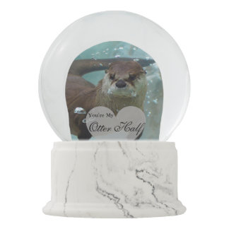 Your my Otter Half Brown River Otter Swimming Snow Globe