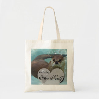 Your my Otter Half Brown River Otter Swimming Tote Bag