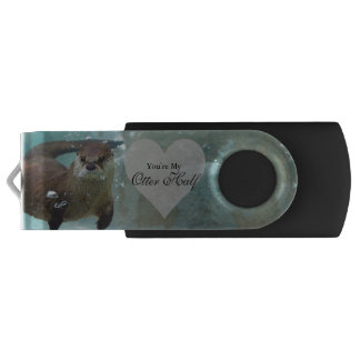 Your my Otter Half Brown River Otter Swimming USB Flash Drive