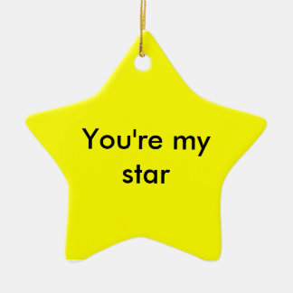 your my star ceramic star decoration