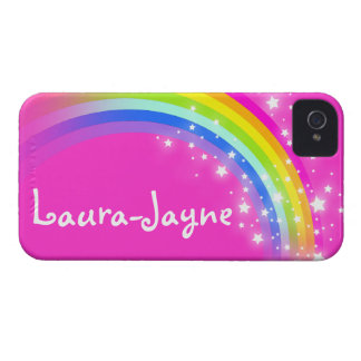 """Your name"" (11 letter) rainbow pink iphone case"