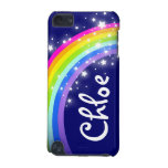 """Your name"" (5 letter) rainbow on navy ipod case iPod Touch 5G Covers"