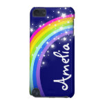 """""""Your name"""" (6 letter) rainbow on navy ipod case iPod Touch (5th Generation) Case"""