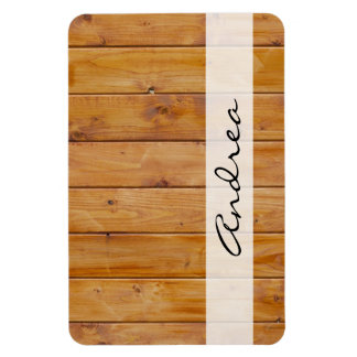 Your Name - Barn Wall, Wooden Barks, Boards Magnet