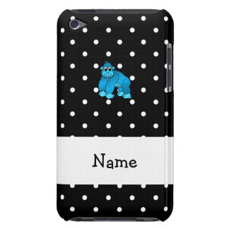 Your name blue gorilla black white polka dots iPod touch covers