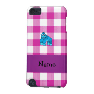 Your name blue gorilla pink gingham checkers iPod touch 5G case