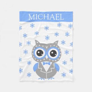 Your Name Christmas Receiving Baby Fleece Blanket