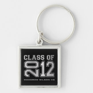 """your name"" Class of 2012 Key-Chain (silver) Key Ring"