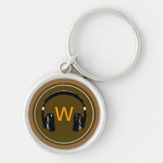 your name dj headphone key ring