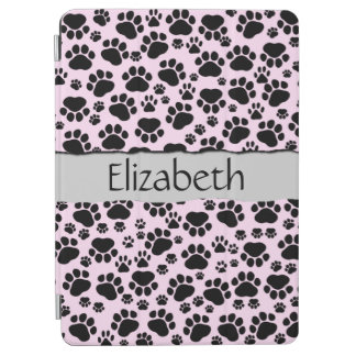 Your Name - Dog Paws, Traces, Paw-prints - Pink iPad Air Cover