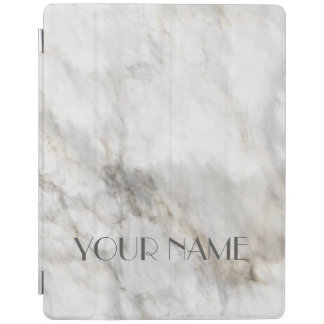 Your name elegant Marble Stone  Look texture iPad Cover