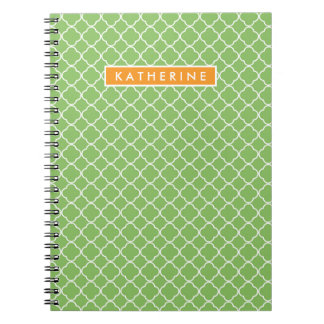 Your Name | Green Trefoil Notebook