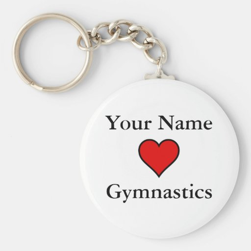 (Your Name) Hearts Gymnastics Key Chain