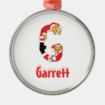 Your Name Here! Custom Letter G Teddy Bear Santas