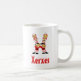 Your Name Here! Custom Letter X Teddy Bear Santas Mug